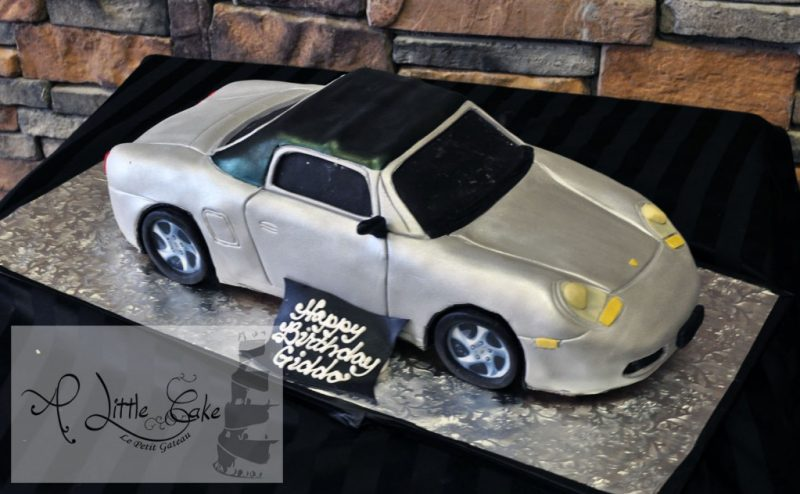 Sculpted Porsche Car Birthday Cake A Little Cake