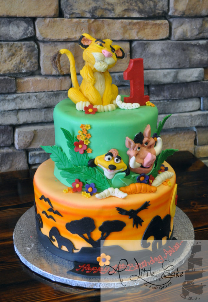 Loin King First Birthday Cake