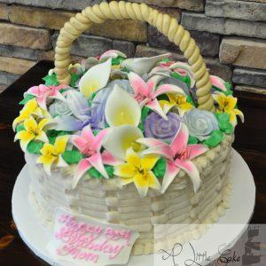 basket bridal shower cakes