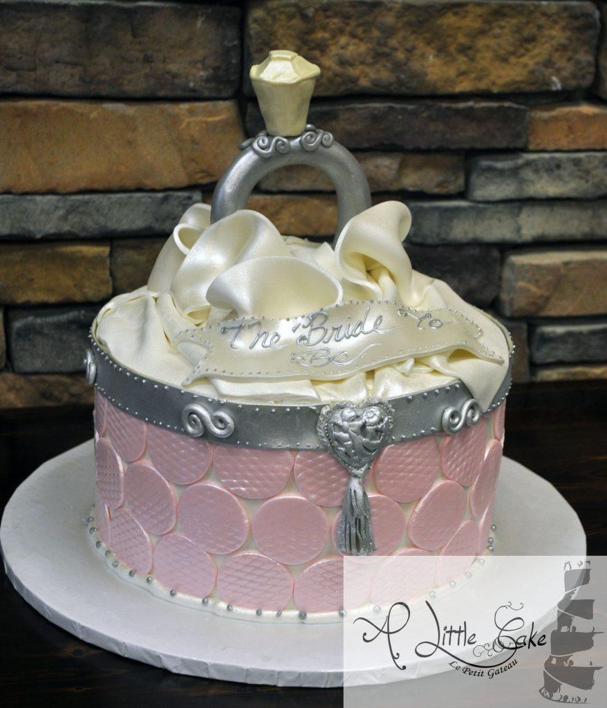 Blush Pink and Gold Bridal Shower Cake - Cake by - CakesDecor